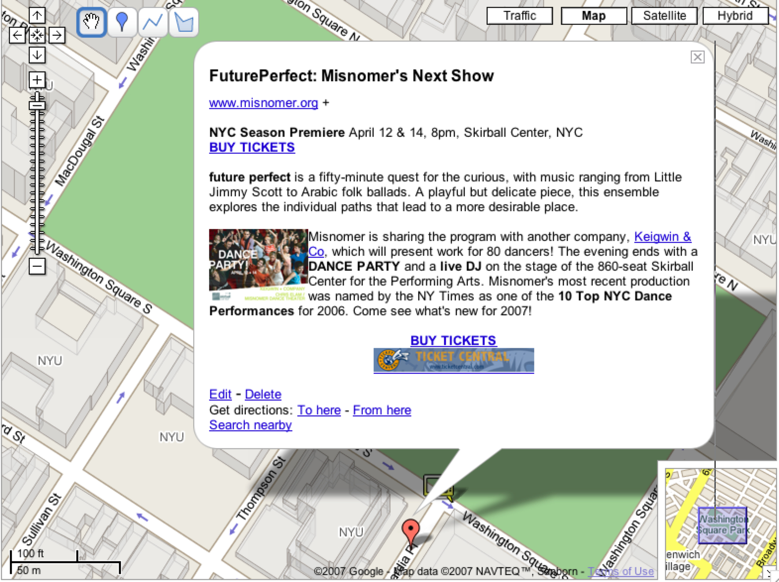 New Feature: Find Misnomer Shows on Google Maps at Misnomer